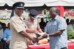 An Officer receives an award.