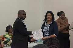 One of the 30 Early Childhood Development practitioners receiving their certificate.