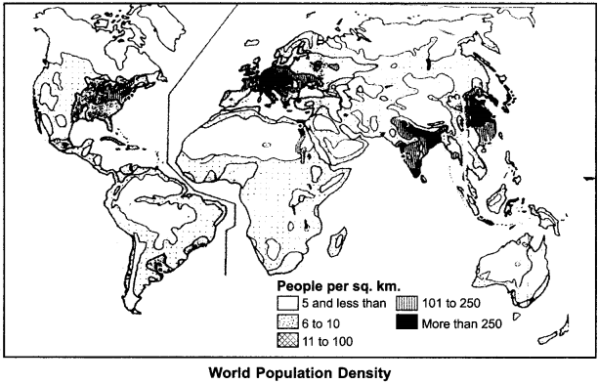 RBSE Solutions for Class 12 Geography Chapter 3 Population Distribution, Density and Growth 7