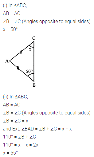 ML Aggarwal Class 7 Solutions for ICSE Maths Chapter 11 Triangles
