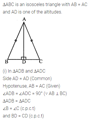 ML Aggarwal Class 7 Solutions for ICSE Maths Chapter 12 Congruence of Triangles Check Your Progress Q3.1