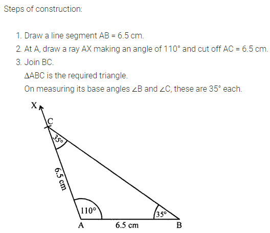 ML Aggarwal Class 7 Solutions for ICSE Maths Chapter 13 Practical Geometry Ex 13 Q10
