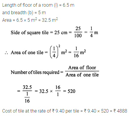 ML Aggarwal Class 7 Solutions for ICSE Maths Chapter 16 Perimeter and Area Ex 16.1 Q14