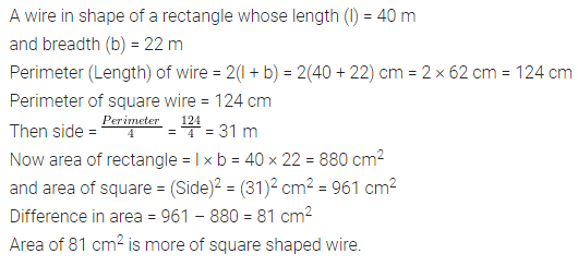 ML Aggarwal Class 7 Solutions for ICSE Maths Chapter 16 Perimeter and Area Ex 16.1 Q7