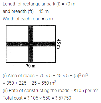 ML Aggarwal Class 7 Solutions for ICSE Maths Chapter 16 Perimeter and Area Ex 16.1 Q12