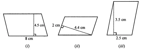 ML Aggarwal Class 7 Solutions for ICSE Maths Chapter 16 Perimeter and Area Ex 16.2 Q1