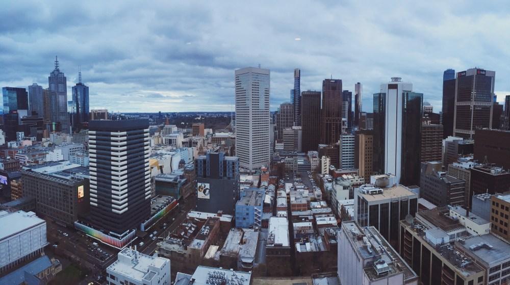 30 June 2016: City view from JC's apartment   Melbourne CBD, Australia