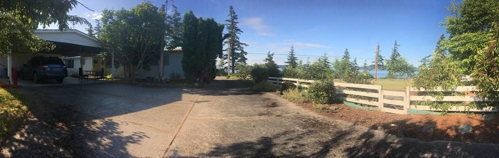 Samish Island Backyard Panorama