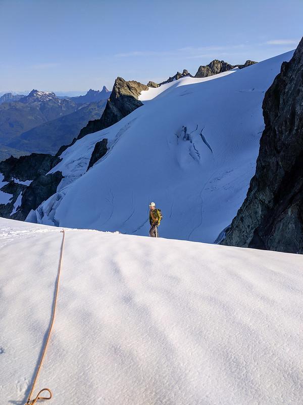 Sulphide Glacier - Fisher Chimneys route