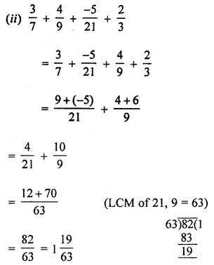 ML Aggarwal Class 8 Solutions for ICSE Maths Chapter 1 Rational