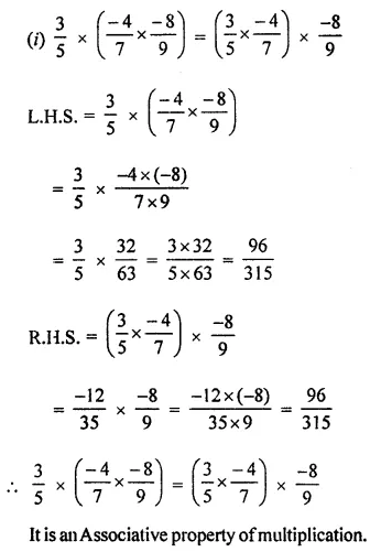 ICSE Class 8 Maths Book Solutions Free Download Pdf Chapter 1 Rational Numbers Ex 1.3 Q3.1