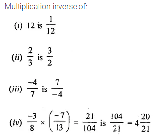 ML Aggarwal Class 8 Solutions for ICSE Maths Chapter 1 Rational Numbers Ex 1.3 Q4.1