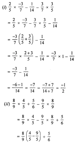 ML Aggarwal Maths for Class 8 Solutions Book Pdf Chapter 1 Rational Numbers Ex 1.3 Q5.1