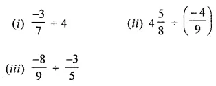 ML Aggarwal Class 8 Solutions for ICSE Maths Chapter 1 Rational Numbers Ex 1.4 Q1