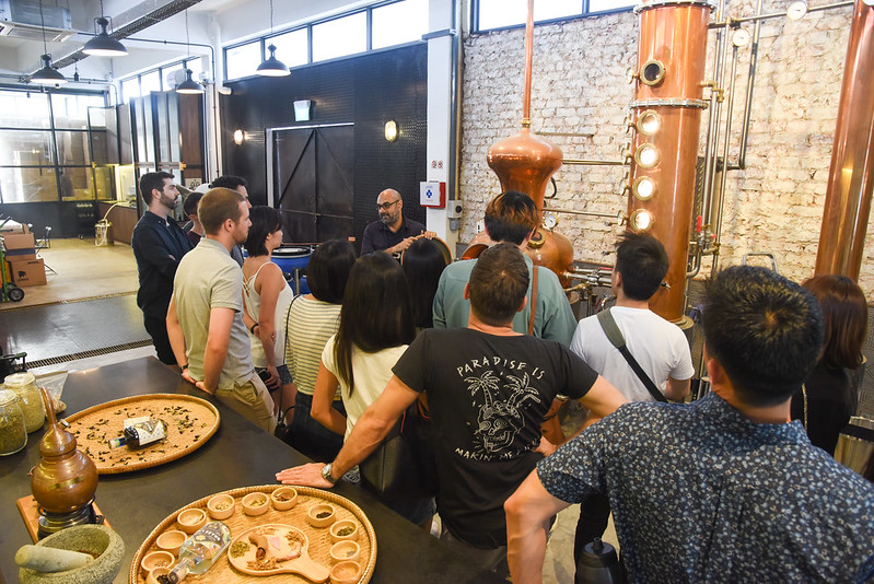 brass lion distillery tour