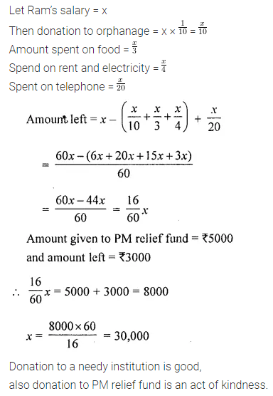 ML Aggarwal Class 8 Solutions Chapter 1 Rational Numbers Objective Type Questions VBQ 1