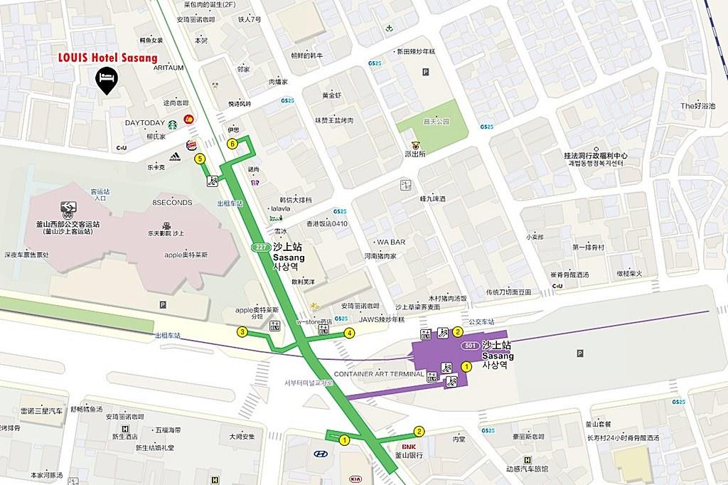 LOUIS Hotel Sasang Map