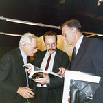 Rams, Dieter (1990) – with Michael Erlhoff and CEO of Hannover Fair