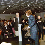 Rams, Dieter (1990): Award Ceremony if, Hannover (with minister of economy, Birgit Breuel)