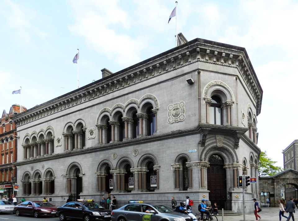 edificio AIB Bank calle Dame Street Dublin Republica de Irlanda 01