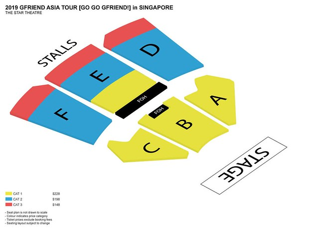 GO GO GFRIEND in Singapore Seating Plan