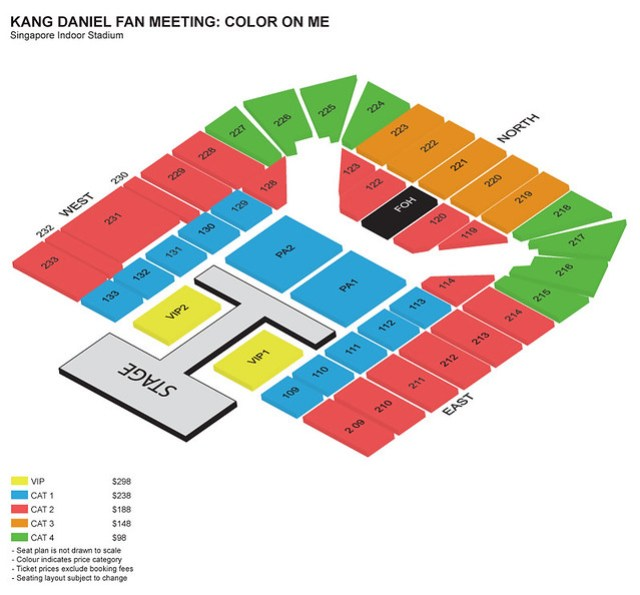 Kang Daniel 'Color On Me' Fan Meeting in Singapore Seating Plan