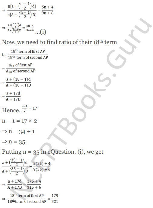 KC Sinha Maths Solution Class 10 Chapter 8 - Arithmetic Progressions (AP) - 177