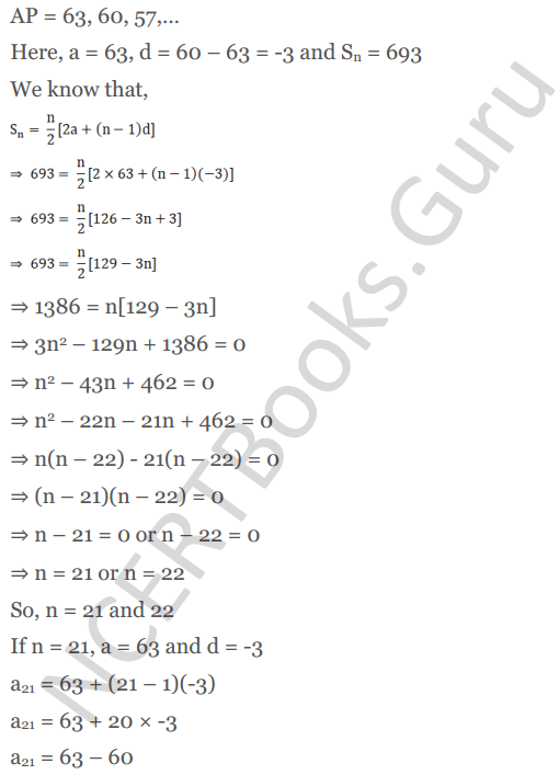 KC Sinha Maths Solution Class 10 Chapter 8 - Arithmetic Progressions (AP) - 135