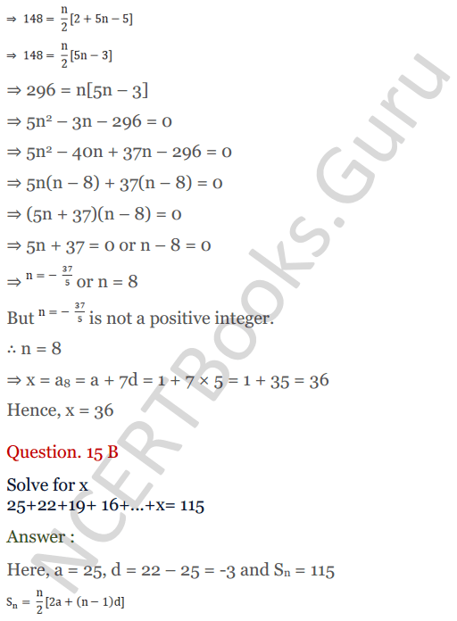 KC Sinha Maths Solution Class 10 Chapter 8 - Arithmetic Progressions (AP) - 130