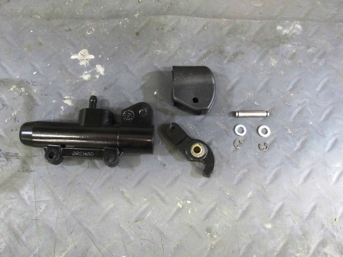 Master Cylinder, Actuating Lever, Rubber Boot, Retaining Pin, Flat Washers & E-clips