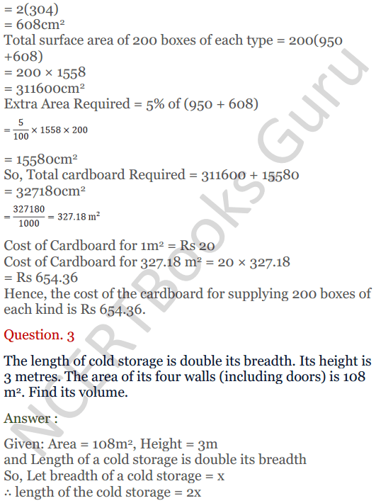 KC Sinha Maths Solutions Class 10 Chapter 14. Surface Areas and volumes - Ex 14.1 - 3