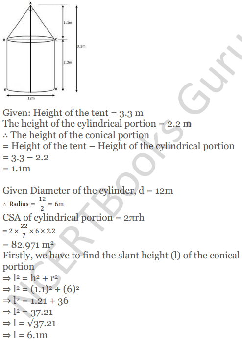 KC Sinha Maths Solutions Class 10 Chapter 14. Surface Areas and volumes - Ex 14.2 - 10