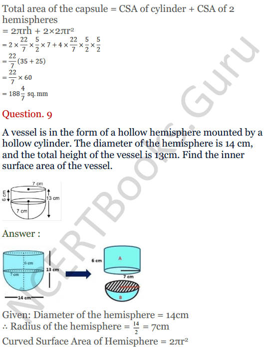 KC Sinha Maths Solutions Class 10 Chapter 14. Surface Areas and volumes - Ex 14.2 - 12