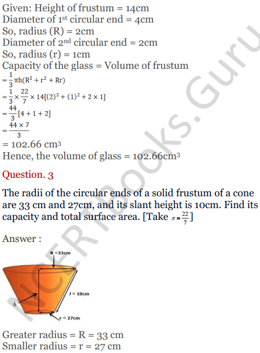 KC Sinha Maths Solutions Class 10 Chapter 14. Surface Areas and volumes - Ex 14.4 - 4