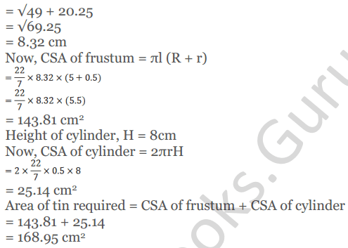 KC Sinha Maths Solutions Class 10 Chapter 14. Surface Areas and volumes - Ex 14.4 - 16