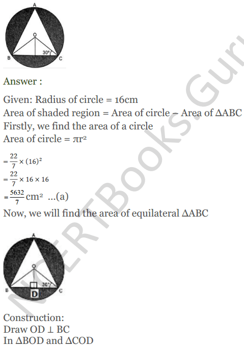 KC Sinha Maths Solutions Class 10 Chapter 13.Areas Related to circles - Ex 13 - 48