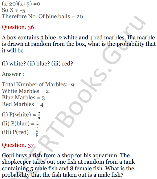 KC Sinha Maths Solutions Class 10 Chapter 15. Probability Ex.15 - 27