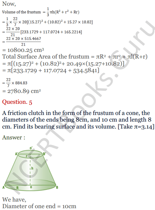 KC Sinha Maths Solutions Class 10 Chapter 14. Surface Areas and volumes - Ex 14.4 - 7
