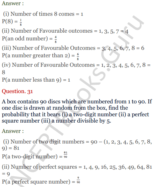 KC Sinha Maths Solutions Class 10 Chapter 15. Probability Ex.15 - 23