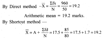 RBSE Solutions for Class 11 Economics Chapter 8 Arithmetic Mean 4