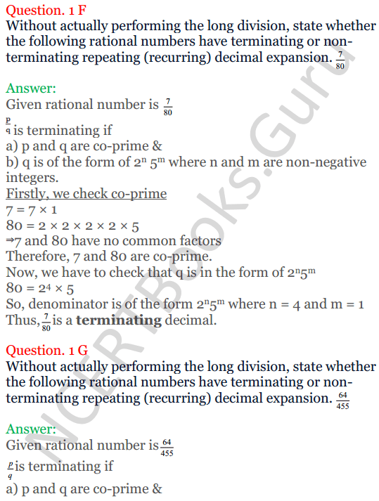 KC Sinha Maths Solutions Class 10 Chapter 1 Real Numbers Ex 1.4 - 5
