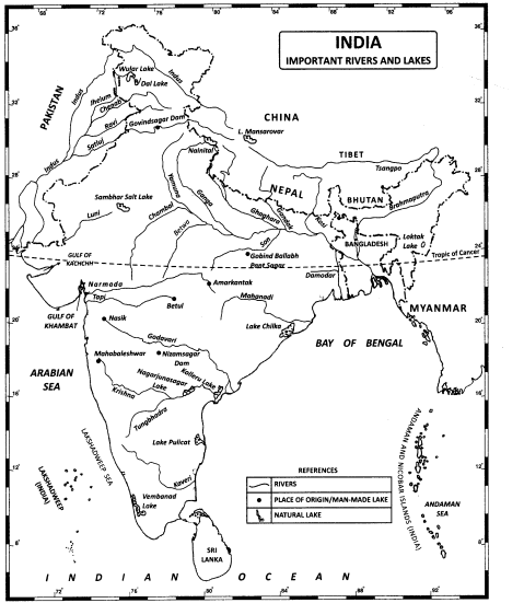 Class 11 Geography NCERT Solutions Chapter 3 Drainage
