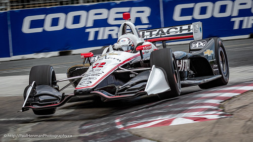 Josef Newgarden catches air in Turn 5