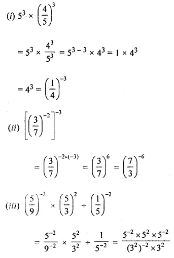 ML Aggarwal Class 8 Solutions for ICSE Maths Chapter 2 Exponents and Powers Ex 2.1 Q8.1