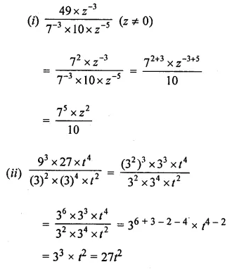 ML Aggarwal Class 8 Solutions for ICSE Maths Chapter 2 Exponents and Powers Ex 2.1 Q9.1
