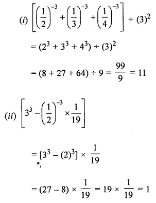 APC Maths Class 8 Solutions Chapter 2 Exponents and Powers Check Your Progress Q2.1