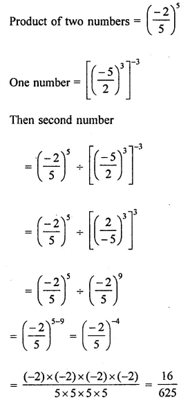 ML Aggarwal Class 8 Solutions for ICSE Maths Chapter 2 Exponents and Powers Check Your Progress Q9