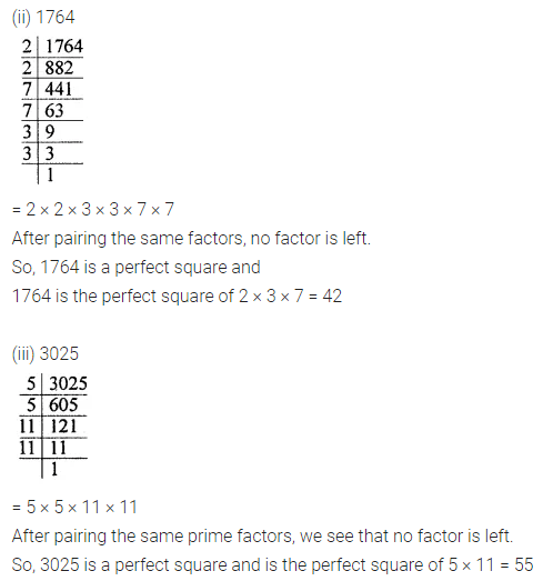 ICSE Class 8 Maths Book Solutions Free Download Pdf Chapter 3 Squares and Square Roots Ex 3.1 Q2.1