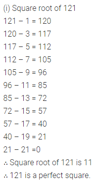 ML Aggarwal Class 8 Solutions for ICSE Maths Chapter 3 Squares and Square Roots Ex 3.3 Q1