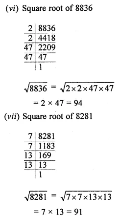 ICSE Mathematics Class 8 Solutions Chapter 3 Squares and Square Roots Ex 3.3 Q2.2